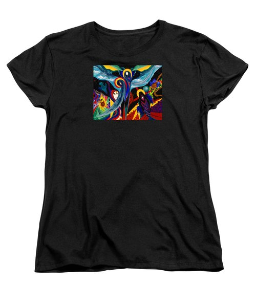 Women's T-Shirt (Standard Cut) featuring the painting Grieving by Marina Petro