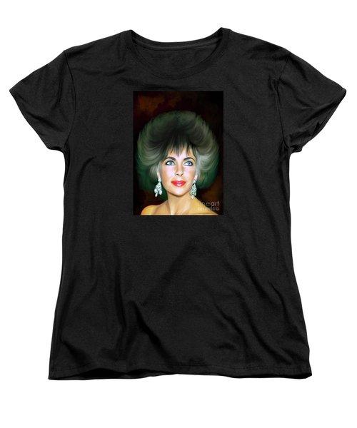 Women's T-Shirt (Standard Cut) featuring the painting Elizabeth 2 by Andrzej Szczerski