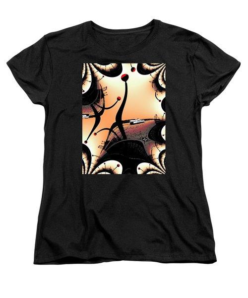 Elliott Bay Ferry Fractal Women's T-Shirt (Standard Cut) by Tim Allen