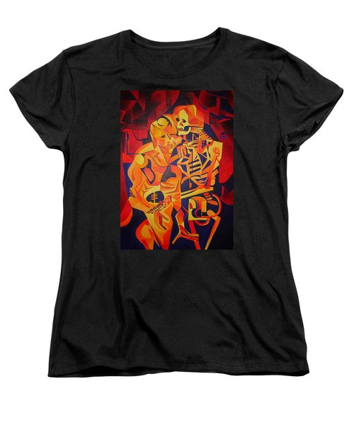 Embracing Death Women's T-Shirt (Standard Cut) by Tracey Harrington-Simpson