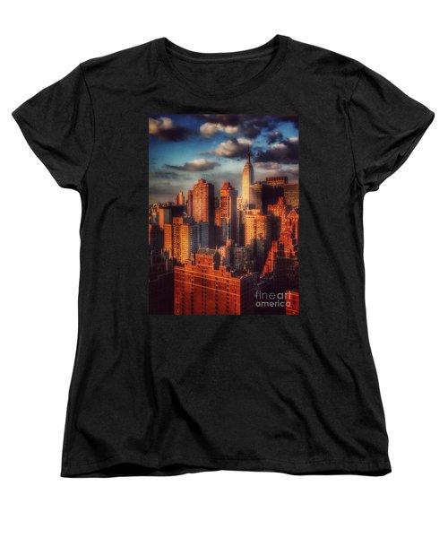 Empire State In Gold Women's T-Shirt (Standard Cut) by Miriam Danar
