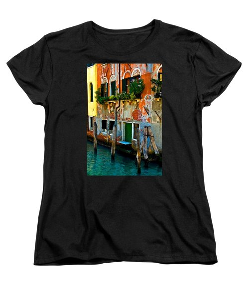 Empty Dock Women's T-Shirt (Standard Cut) by Harry Spitz