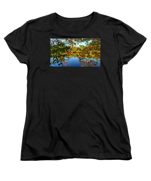 Women's T-Shirt (Standard Cut) featuring the photograph Enchanted Fall by Valentino Visentini