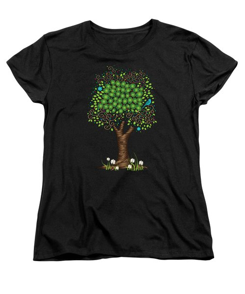 Enchanted Tree Women's T-Shirt (Standard Cut) by Serena King