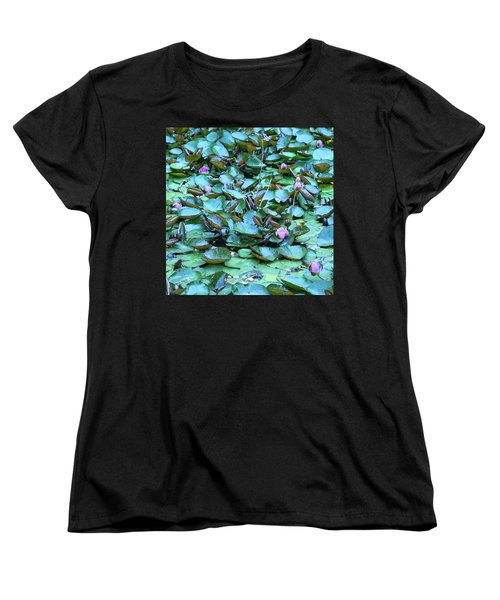 Painted Water Lilies Women's T-Shirt (Standard Cut) by Theresa Tahara