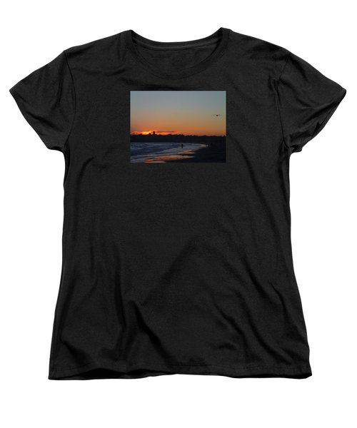 End Of The Island Day. Women's T-Shirt (Standard Cut) by Robert Nickologianis