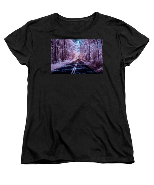 Women's T-Shirt (Standard Cut) featuring the photograph End Of The Road by Louis Ferreira