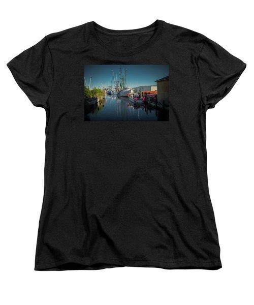 Englehardt,nc Fishing Town Women's T-Shirt (Standard Cut)
