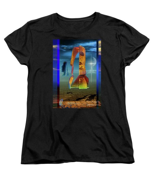 Women's T-Shirt (Standard Cut) featuring the digital art Enigma by Shadowlea Is