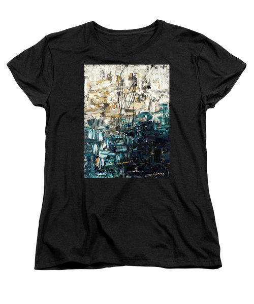 Women's T-Shirt (Standard Cut) featuring the painting Envisioning by Carmen Guedez