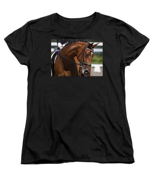 Women's T-Shirt (Standard Cut) featuring the photograph Equestrian At Work D4913 by Wes and Dotty Weber