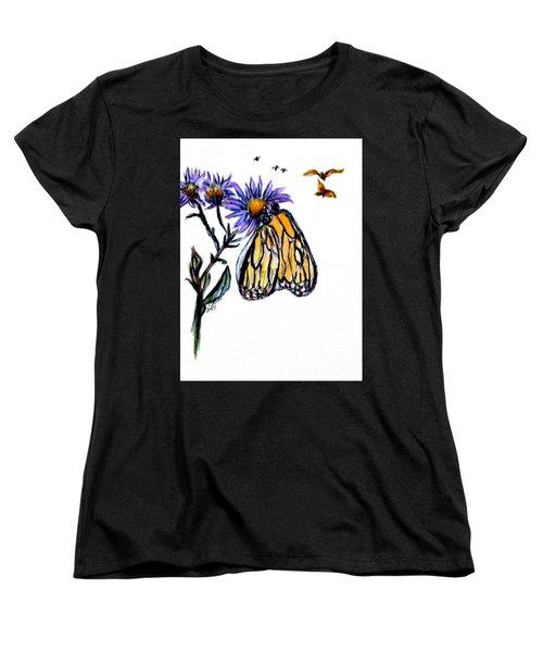 Erika's Butterfly One Women's T-Shirt (Standard Cut) by Clyde J Kell