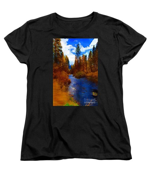 Evening Hatch On The Metolius Painting Women's T-Shirt (Standard Cut) by Diane E Berry