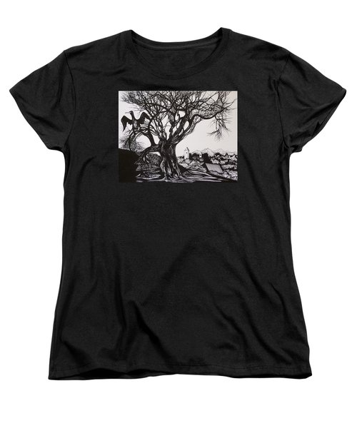 Evening In Midnapore Women's T-Shirt (Standard Cut) by Anna  Duyunova