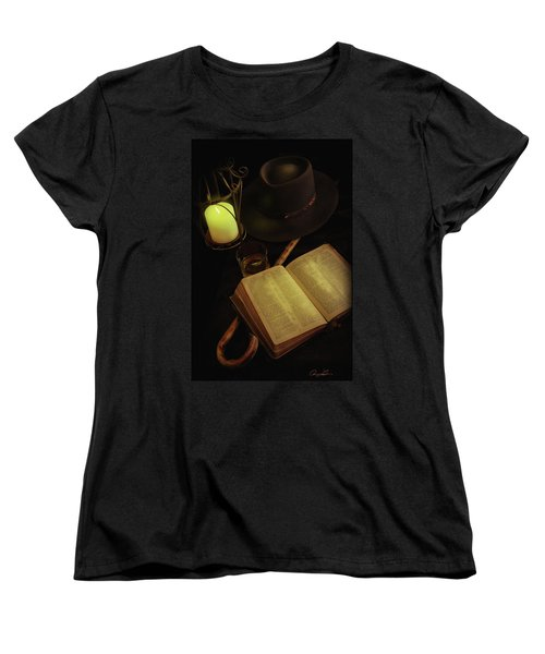 Women's T-Shirt (Standard Cut) featuring the photograph Evening Reading by Ann Lauwers