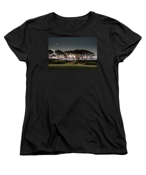Women's T-Shirt (Standard Cut) featuring the photograph Dusk At Fort Fisher by Phil Mancuso