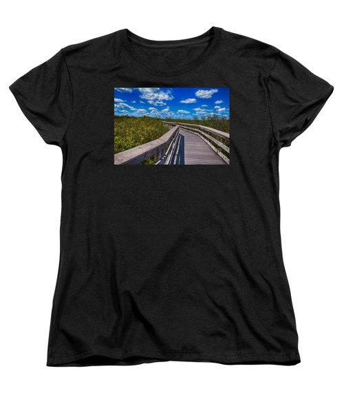 Everglades Trail Women's T-Shirt (Standard Cut) by Swank Photography