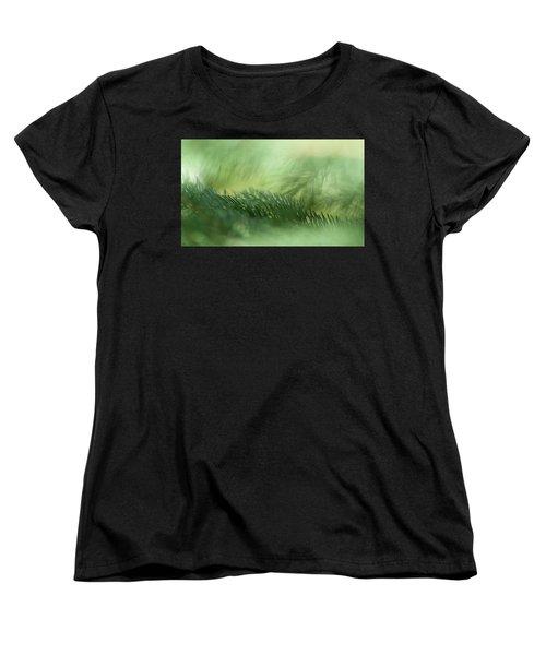 Women's T-Shirt (Standard Cut) featuring the photograph Evergreen Mist by Ann Lauwers