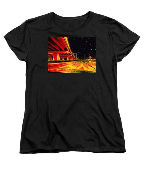 Women's T-Shirt (Standard Cut) featuring the digital art Are We There Yet by Wendy J St Christopher