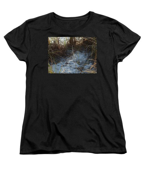Women's T-Shirt (Standard Cut) featuring the photograph Everything Grows In The Sand by Robert Margetts