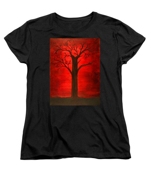 Evil Tree Women's T-Shirt (Standard Cut) by David Stasiak