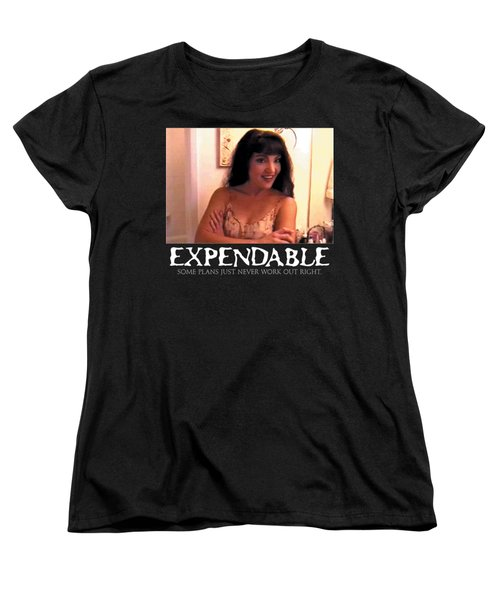 Expendable 12 - Black Women's T-Shirt (Standard Cut) by Mark Baranowski