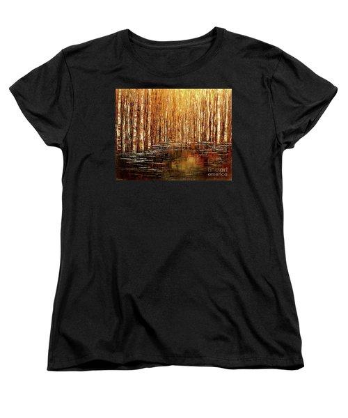 Women's T-Shirt (Standard Cut) featuring the painting Exploration Of Ohio by Tatiana Iliina