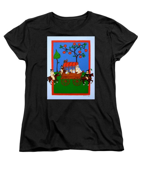 Women's T-Shirt (Standard Cut) featuring the painting Expulsion Of The Jews For M Spain by Stephanie Moore