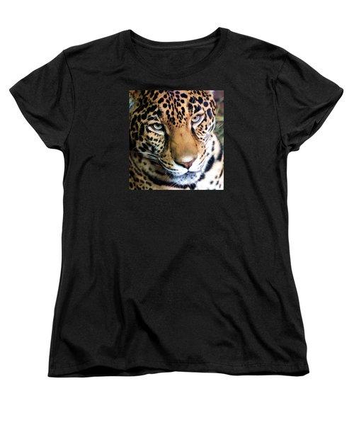 Eye Of The Leopard Women's T-Shirt (Standard Cut) by Athena Mckinzie