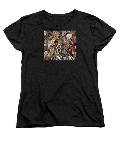 Women's T-Shirt (Standard Cut) featuring the photograph Eye Of The Rugr by Randy Bodkins