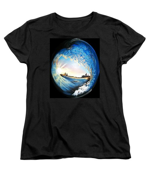 Women's T-Shirt (Standard Cut) featuring the painting Eye Of The Wave by Sharon Duguay