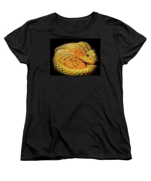 Women's T-Shirt (Standard Cut) featuring the photograph Eyelash Viper by Karen Wiles