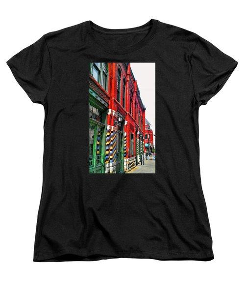 Facade Of Color Women's T-Shirt (Standard Cut) by Douglas Barnard