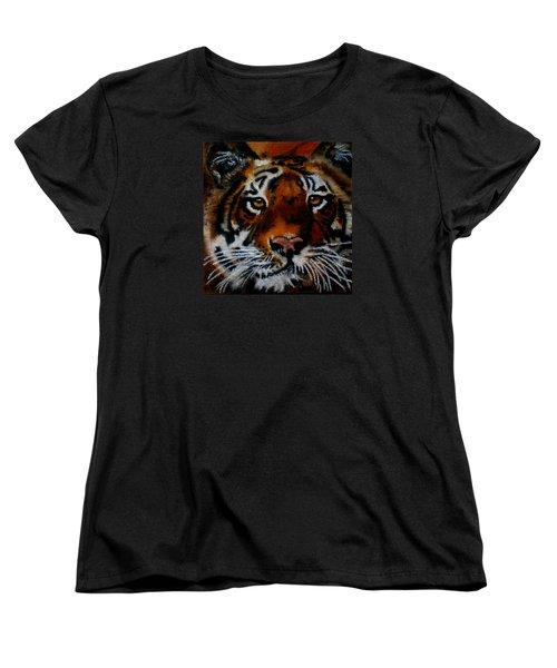 Face Of A Tiger Women's T-Shirt (Standard Cut) by Maris Sherwood