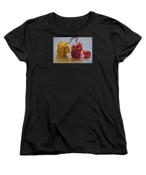 Women's T-Shirt (Standard Cut) featuring the photograph Faded Flowers by Vladimir Kholostykh