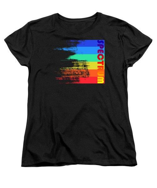 Faded Retro Pop Spectrum Colors Women's T-Shirt (Standard Cut) by Shawn Hempel