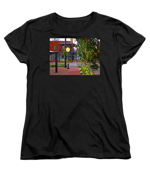 Fairhope Ave With Clock Down Section Street Women's T-Shirt (Standard Cut) by Michael Thomas