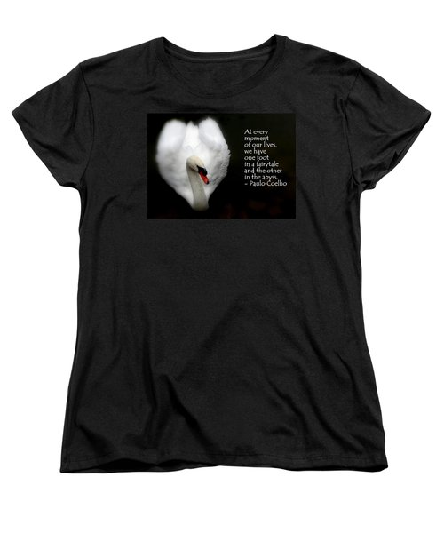 Women's T-Shirt (Standard Cut) featuring the photograph Fairytale Swan by Lainie Wrightson