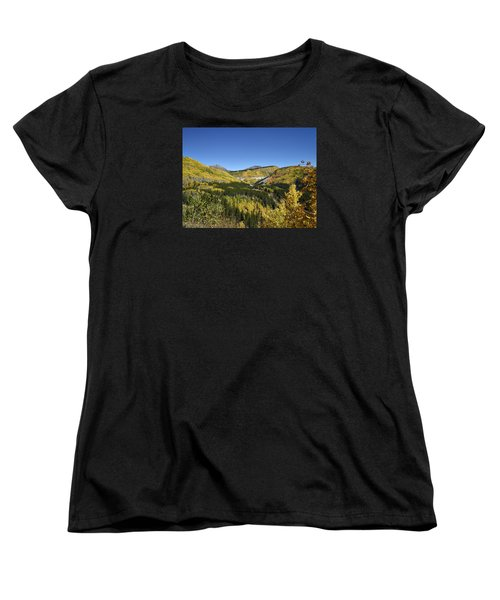 Fall Aspens In San Juan County In Colorado Women's T-Shirt (Standard Cut) by Carol M Highsmith