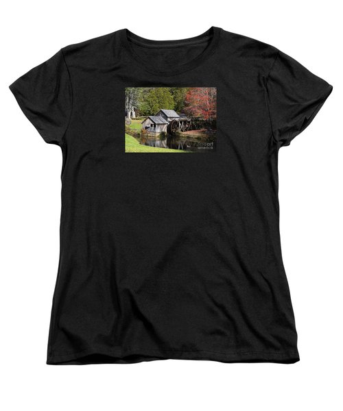 Fall Colors At Mabry Mill Blue Ridge Parkway Women's T-Shirt (Standard Cut) by Nature Scapes Fine Art