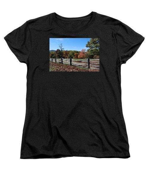 Fall Fence Women's T-Shirt (Standard Cut) by Eric Liller