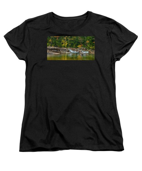Fall Foliage In Autumn Along Swift River In New Hampshire Women's T-Shirt (Standard Cut) by Ranjay Mitra
