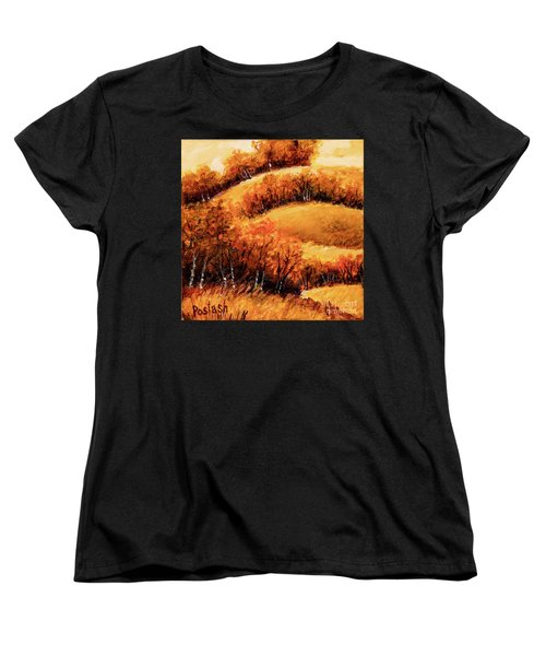 Women's T-Shirt (Standard Cut) featuring the painting Fall by Igor Postash