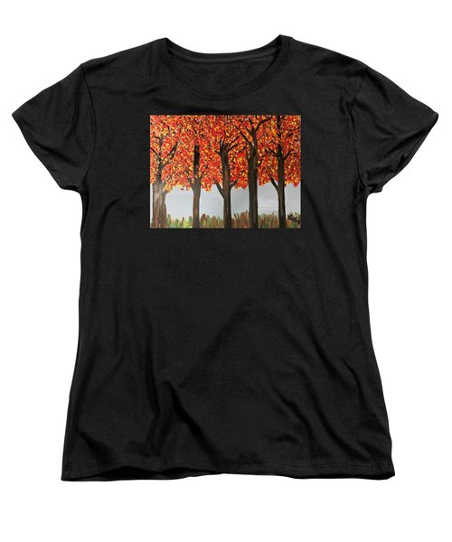 Fall Leaves Women's T-Shirt (Standard Cut)