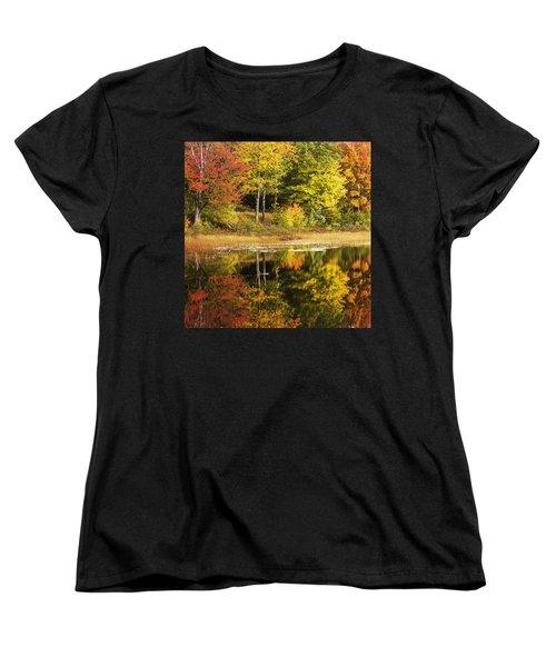 Women's T-Shirt (Standard Cut) featuring the photograph Fall Reflection by Chad Dutson