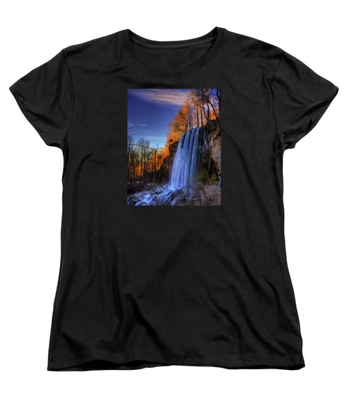 Falling Spring Falls Women's T-Shirt (Standard Cut) by Steve Hurt