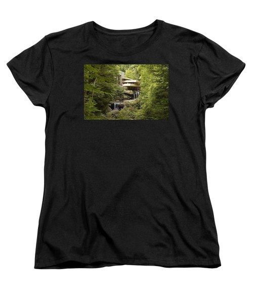 Falling Water Women's T-Shirt (Standard Cut) by Carol Highsmith