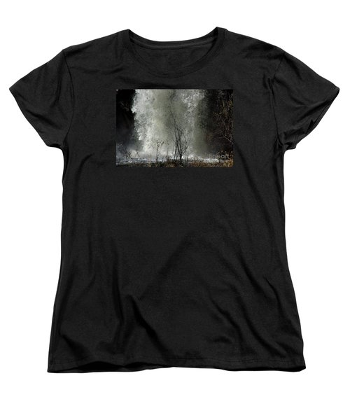 Falling Waters Women's T-Shirt (Standard Cut) by Vicki Pelham