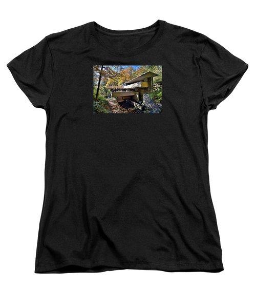 Fallingwater Pennsylvania - Frank Lloyd Wright Women's T-Shirt (Standard Cut) by Brendan Reals