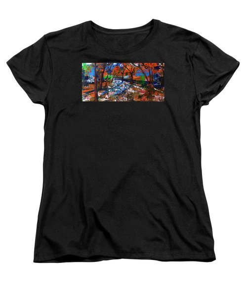Fall Colors And First Snow Women's T-Shirt (Standard Cut)